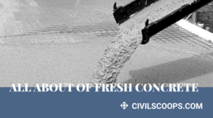 all about of Fresh Concrete